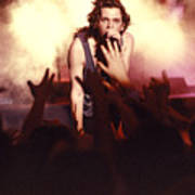 Michael Hutchence And Inxs 1985 Print by Sean Davey