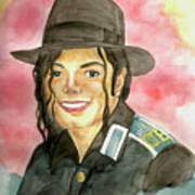 Michael Jackson - A Bright Smile Shining In The Sky Art Print