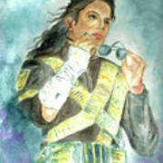 Michael Jackson - Dangerous Tour  Art Print by Nicole Wang