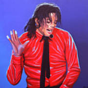 Michael Jackson 2 Art Print by Paul Meijering