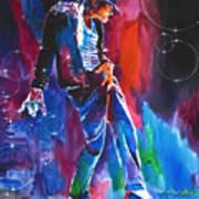 Michael Jackson Action Art Print