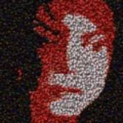 Michael Jackson Bottle Cap Mosaic Art Print