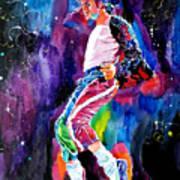 Michael Jackson Dance Print by David Lloyd Glover