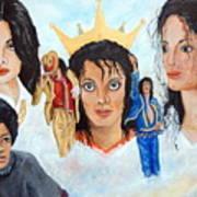 Michael Jackson-faces Art Print by Janna Columbus