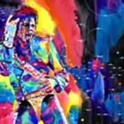 Michael Jackson Flash Art Print