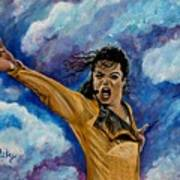 Michael Jackson Print by Paintings by Gretzky
