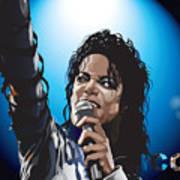 Michael Jackson Icon Art Print by Mike  Haslam