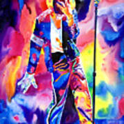 Michael Jackson Sparkle Print by David Lloyd Glover