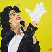 Michael Jackson The Hand Art Print