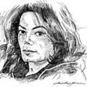 Michael Jackson Thoughts Art Print