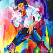 Michael Jackson Wind Art Print by David Lloyd Glover