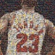 Michael Jordan Card Mosaic 2 Print by Paul Van Scott