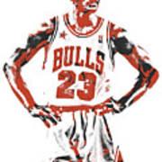 Michael Jordan Chicago Bulls Pixel Art 13 Art Print