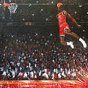 Michael Jordan Custom Painting Art Print