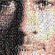 Michael Jordan Face Mosaic Art Print by Paul Van Scott