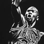 Michael Jordan  Art Print by Don Medina