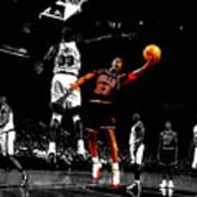 Michael Jordan Left Hand Art Print