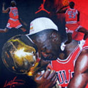 Michael Jordan Art Print by Luke Morrison