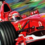 Michael Schumacher Ferrari Art Print by David Kyte