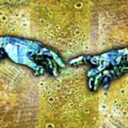 Michelangelo's Creation Of Man Art Print