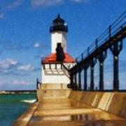 Michigan City Light 1 Art Print