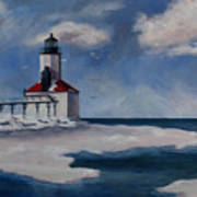 Michigan City Light Art Print
