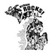 Michigan Rocks Art Print