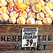 Michigan Squash For Sale Art Print