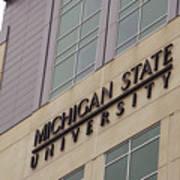 Michigan State University Signage 02 Art Print
