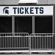 Michigan State University Tickets Booth Sc Signage Art Print