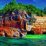 Michigan  Up Pictured Rock Kayakers 9060900109 Art Print