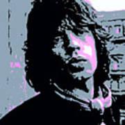Mick Jagger In London Art Print