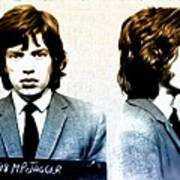 Mick Jagger Mugshot Art Print by Bill Cannon