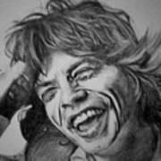 Mick Jagger Portrait Art Print