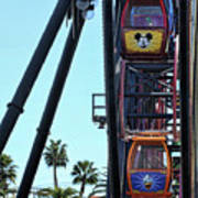 Mickey Donald Ferris Wheel California  Art Print