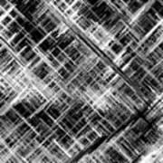 Micro Linear Black And White Art Print
