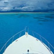 Micronesia, Boat Bow Art Print