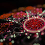 Microscopic V - Glitter Art Print by Sandra Hoefer