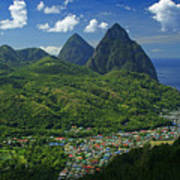 Midday- Pitons- St Lucia Art Print