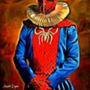 Middle Ages Spider Man Art Print
