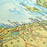 Middle East Map. Art Print