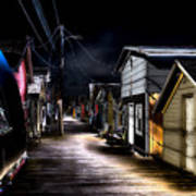 Midnight At The Boathouse Art Print