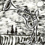 Midnight Horn Art Print