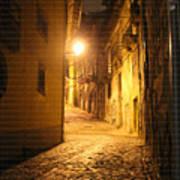 Midnight In Porto Art Print