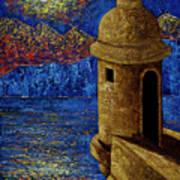 Midnight Mirage In San Juan Art Print