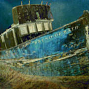 Midnight Shipwreck Art Print