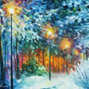 Midnight Snow Songs  Art Print