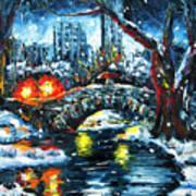 Midnight Stroll On The Gapstow Art Print