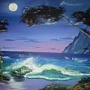 Midnight Tropicale Art Print