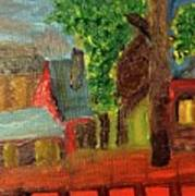 Midnight Village  Art Print